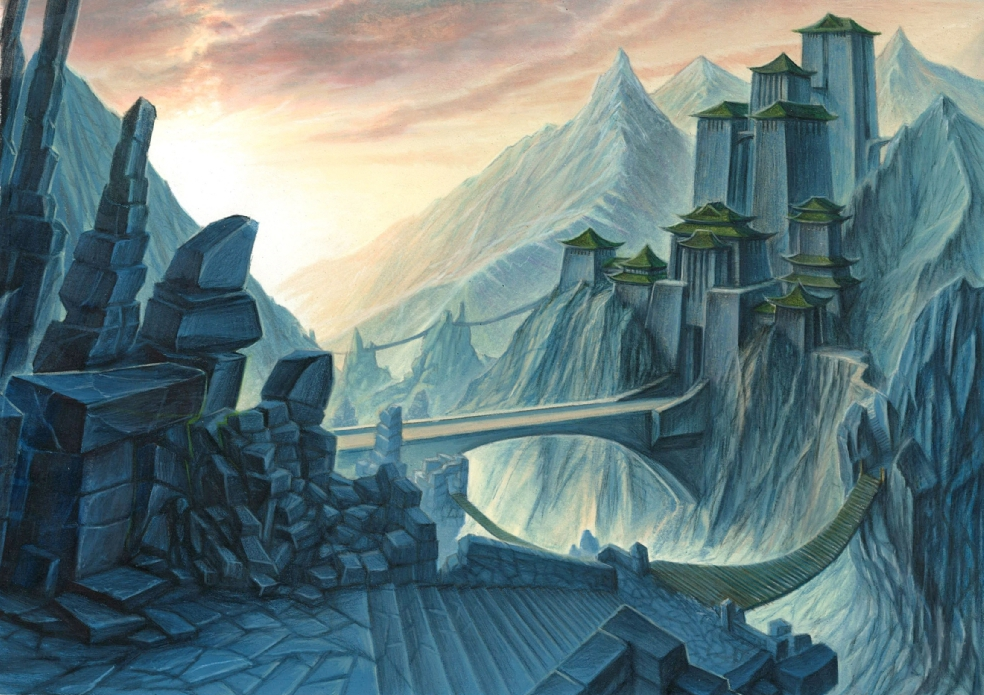 Into the Mountains, an art retrospective of Dragon Clan strongholds
